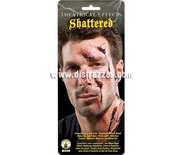 Herida con imperdibles FX'S. Artículo de Maquillaje FX fabricado en látex ideal para caracterizarte. Pieza de látex con imperdibles para conseguir un efecto realista de una terrorífica herida.    Recuerda que para fijarlas necesitarás el Pegamento FX .