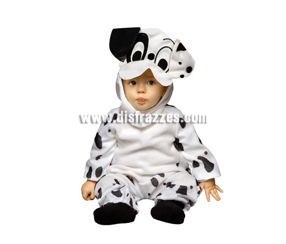 Disfraz de Dálmata para Bebés de 6-12 meses. Incluye traje y gorro.