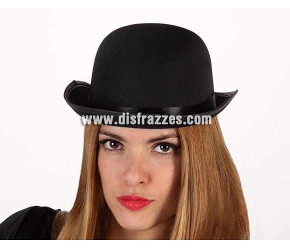 Sombrero Bombín negro de Adulto.