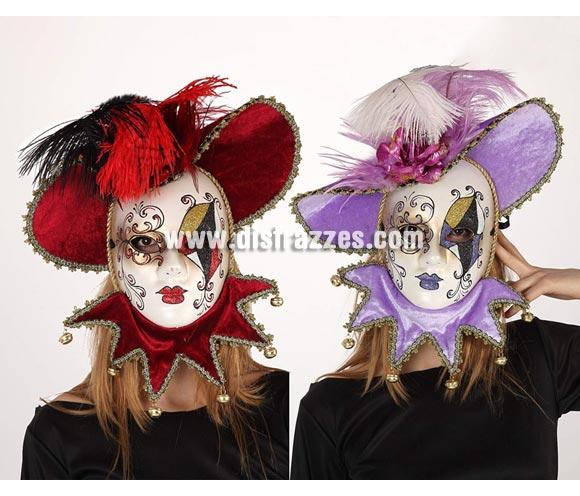 Máscara Veneciana con babero. Talla universal. Dos modelos surtidos, precio por unidad, se venden por separado.