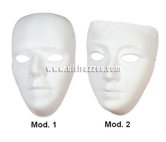 Máscara de Teatro blanca de PVC para decorar.