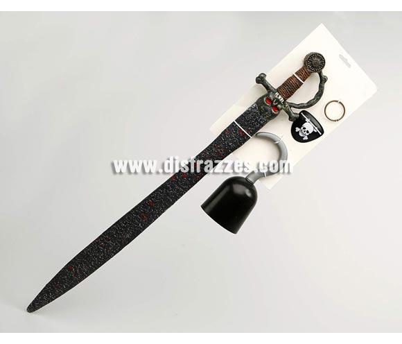 Set Pirata de 78 cm. Incluye espada, garfio, parche y pendiente.