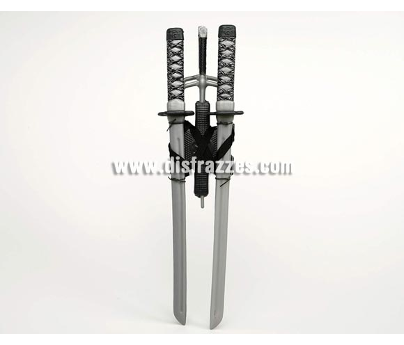 Kit de 2 espadas de Ninja de 57 cm.