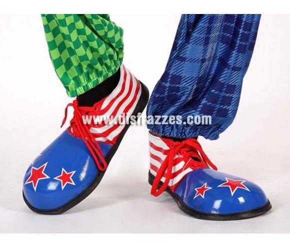 Par de Zapatos o Zapatones de Payaso USA de 35,5 cm. para hombre.