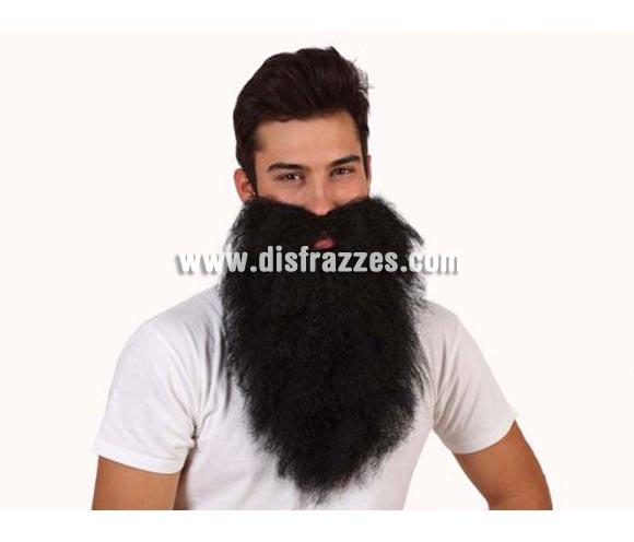Barba negra de Rey larga y lisa. Barba de Mendigo, Vagabundo  o también de Vikingo.