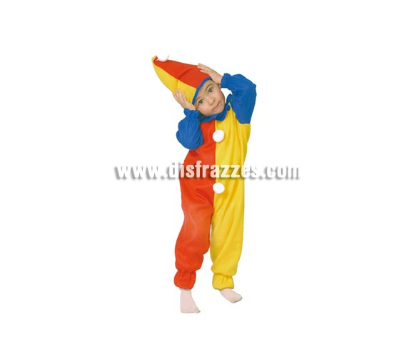 Disfraz barato de Payaso Baby para niños de 1 a 2 años. Contiene mono y gorro.