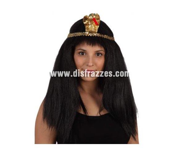 Peluca Cleopatra negra con accesorios. Talla universal.
