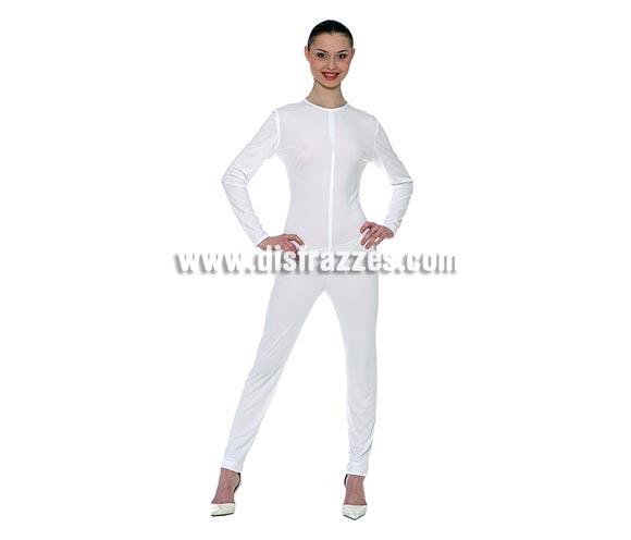 Maillot o mono de color blanco adulto para Carnaval. Ideal para ponértelo debajo de tu disfraz si crees que vas a pasar frío.