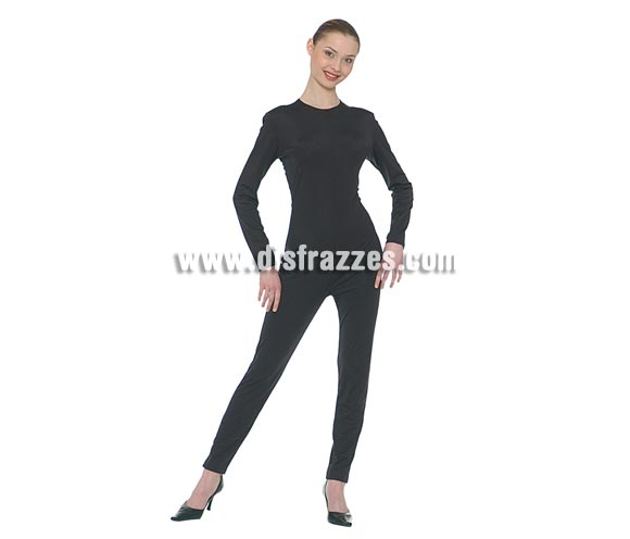 Maillot o mono color negro adulta