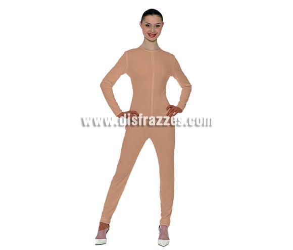 Maillot o mono de color Carne adulto para Carnaval. Ideal para ponértelo debajo de tu disfraz si crees que vas a pasar frío. También serviría como disfraz de Eva poniéndote unas hojitas en los sitios clave. Tejido elástico de alta calidad, se adapta al cuerpo.