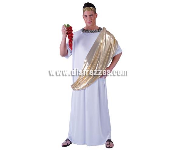 Disfraz Senador Romano adulto - Disfraces Romanos. Talla standar 52/54. Incluye túnica completa. Corona NO incluida, podrás verla en la sección de Complementos.