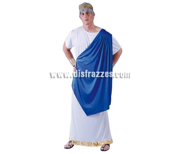 Disfraz de César Romano para hombre. Talla Standar de hombre 52/54. Contiene túnica. Corona y peluca NO incluidas.