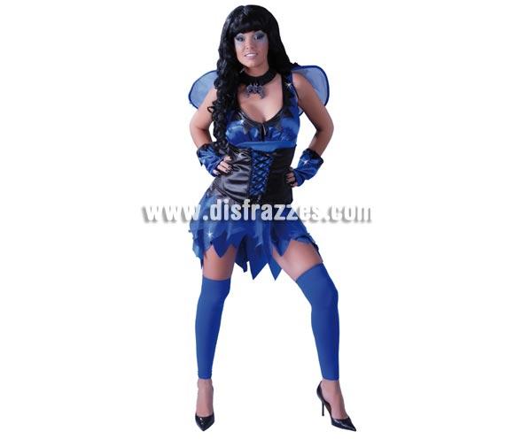 Hada o Ninfa del Mal sexy para mujer. Talla única 38/40. Incluye alas, vestido y muñequeras.
