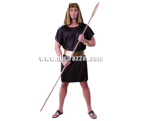 Disfraz de Egipcio para hombre. Talla universal 52/54. Incluye tocado de la cabeza, traje, cinturón y brazaletes.