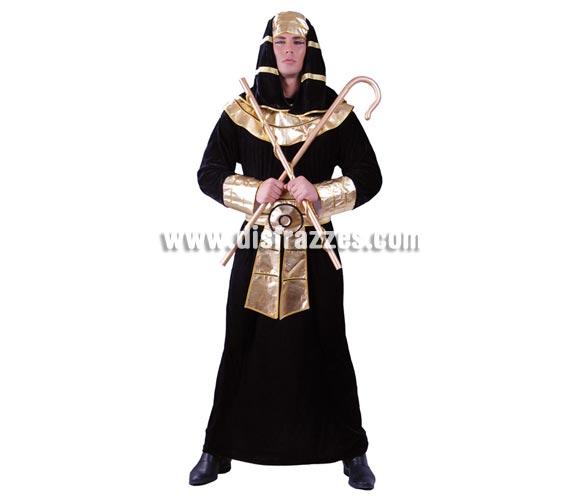 Disfraz de Faraón para hombre. Talla universal 52/54. Incluye tocado de la cabeza, túnica y fajín. Accesorios NO incluidos.