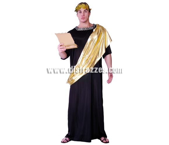 Disfraz de Emperador Romano para hombre. Talla Standar 52/54. Incluye túnica. Corona de laurel NO incluida, podrás verla en la sección de Complementos.
