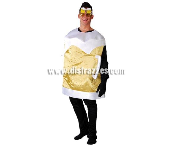Disfraz de Jarra de Cerveza para adultos. Talla Universal adultos. Incluye traje de cerveza. Gafas NO incluidas, podrás verlas en la sección de Complementos.