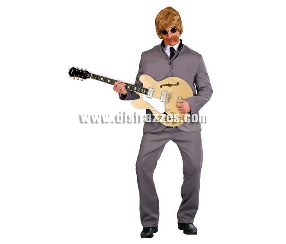 Disfraz de Cantante de los Años 60 para hombre. Talla Universal. Incluye chaqueta y pantalón.