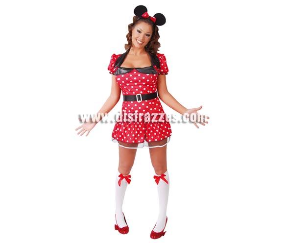 Disfraz de Ratoncita sexy para mujer. Talla única 38/40. Incluye diadema, vestido y cinturón. Disfraz muy sexy para que te parezcas a Minnie. Perfecto también para Despedidas de Soltera.