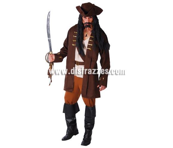 Disfraz de Pirata para hombre adulto. Talla Universal 52/54. Incluye sombrero, camisa, chaqueta, cinturón y pantalón.