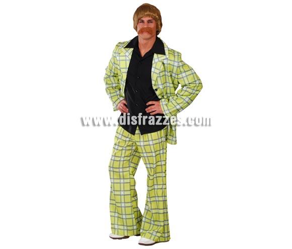 Disfraz hombre de los años 60 adulto. Talla Universal 52/54. Incluye chaqueta y pantalón.