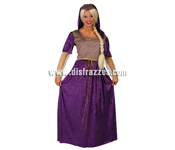Disfraz de Dama Medieval Julieta para mujer. Talla única válida hasta la 42/44. Incluye tocado y vestido. Perfecto para Ferias y Fiestas Medievales. Diseñado en España.
