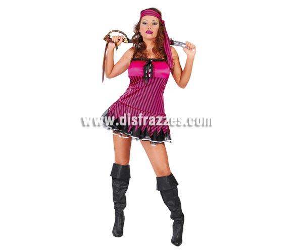 Disfraz de Pirata Sexy adulta para mujer. Talla 38/40 Incluye vestido y cinta de la cabeza. Espada y cubrebotas NO incluidos, podrás verlos en la sección de Complementos.