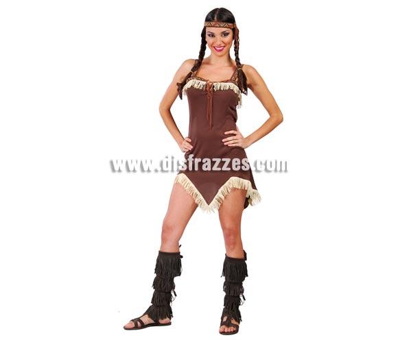Disfraces - Disfraz de India para mujer. Talla standar válida hasta la 42/44. Incluye cinta de la cabeza y vestido.