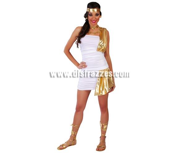 Disfraz Romana Sexy para mujer - Disfraces Romanos. Talla standar de mujer válida hasta la 42/44. Incluye cinta de la cabeza y vestido.