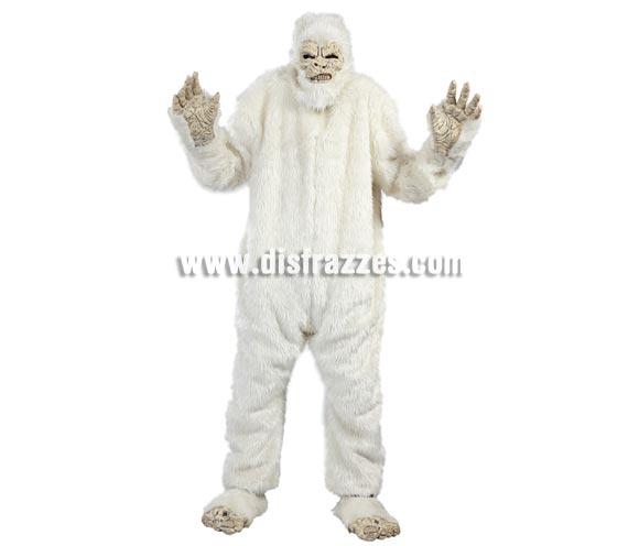 Disfraz de Yeti para hombre. Talla Universal 52/54. Incluye máscara, traje, manos y pies. Disfraz del abominable hombre de las Nieves.