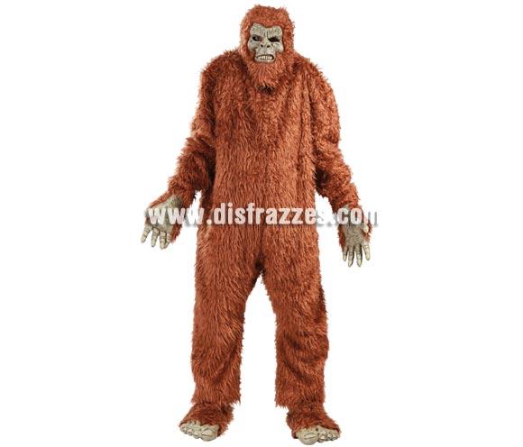 Disfraz de Big Foot para hombre. Talla Universal 52/54. Incluye máscara, traje, manos y pies.