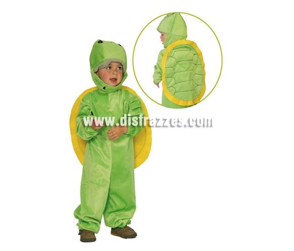 Disfraz de Tortuga Baby para niños de 1 a 12 meses. Contiene traje con capucha.
