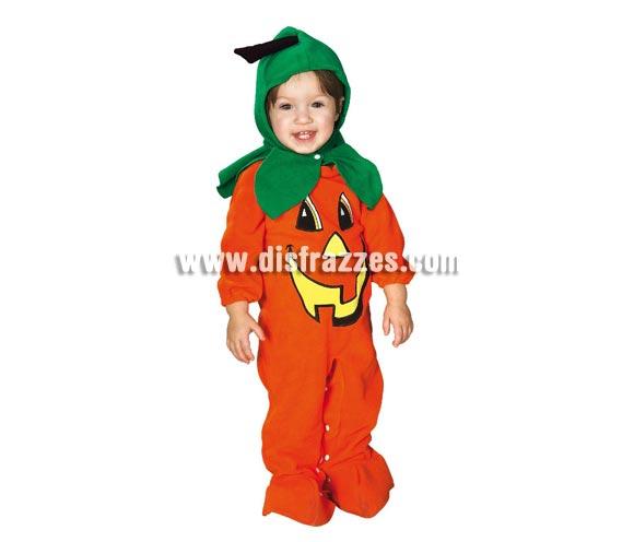 Disfraz de Calabacita para bebés de 6 a 12 meses. Incluye traje completo con capucha ideal y calentito para Halloween.