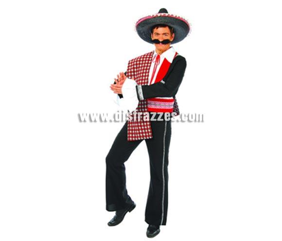 Disfraz de Mariachi Mejicano adulto. Talla única 50/54. Incluye camisa, chaqueta, manto, cinturón y pantalón. Sombrero y bigote NO incluidos, podrás verlos en la sección Complementos.