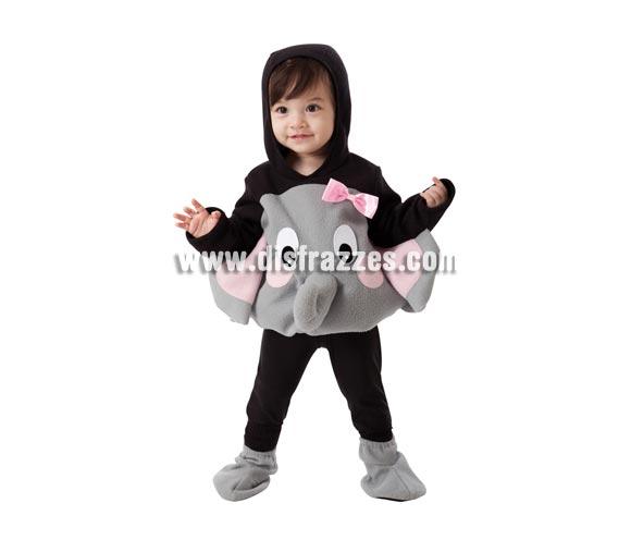 Disfraz de Elefante para niños de 1 a 2 años. Incluye cuerpo, gorro y cubrepies. Pantalón no incluido.