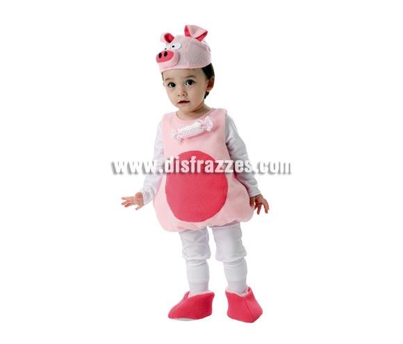 Disfraz de Cerdito niños barato para Carnaval. Talla de 3 a 4 años. Incluye pelele, gorro y botitas. ¡¡Compra tu disfraz para Carnaval en nuestra tienda de disfraces, será divertido!!