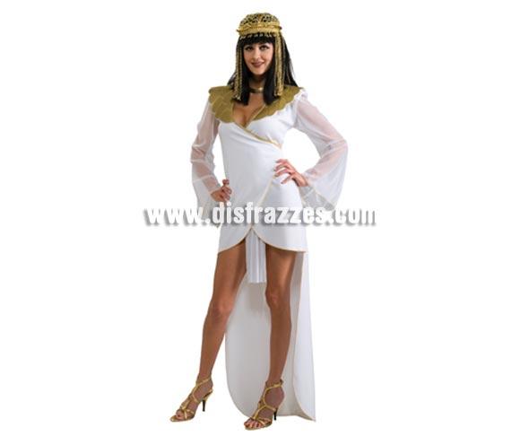 Disfraz de Cleopatra la Reina del Nilo para mujer. Talla standar de mujer. Incluye sólo el vestido. Adornos y peluca NO incluidos, podrás ver artículos iguales o parecidos en la sección de Complementos.