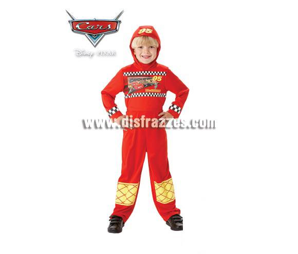 Disfraz de Cars serie Classic para niños de 5 a 7 años. Incluye jumpsuit o mono impreso y gorro. Disfraz con licencia CARS perfecto como regalo para sentirse como Rayo Mc Queen.