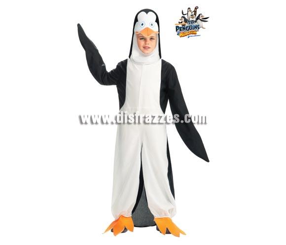 Disfraz de Pingüino Kowalski de MADAGASCAR para niños de 5 a 7 años. Contiene jumpsuit o mono con gorro. Disfraz con licencia de Los Pingüinos de MADAGASCAR que tanto gustan a los niños. Perfecto para regalar.