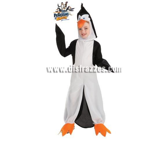 Disfraz de Pingüino Rico de MADAGASCAR para niños de 3 a 4 años. Contiene jumpsuit o mono con gorro. Disfraz con licencia de Los Pingüinos de MADAGASCAR que tanto gustan a los niños. Perfecto para regalar.