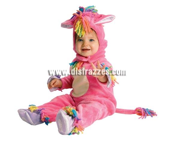 Disfraz de Ponny para bebés de 6 a 12 meses. Incluye traje completo con capucha de lana y felpa. Con apertura abre fácil para cambio de pañal.