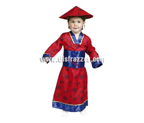 Disfraz de China talla de 1 a 2 años. Incluye sombrero y vestido.