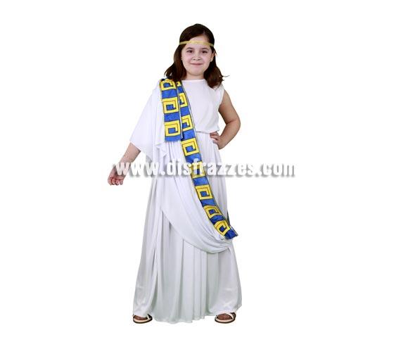 Disfraz de Romana para niñas de 5 a 6 años. Incluye cinta de la cabeza, túnica y manto.