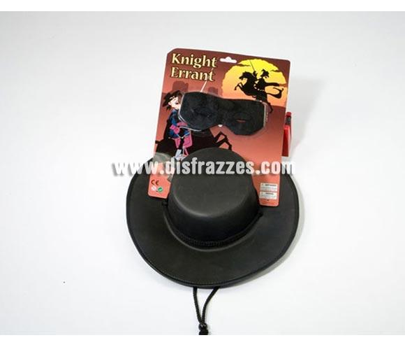 Set de sombrero y antifaz de Héroe Enmascarado. También perfercto para el disfraz de Zorro.