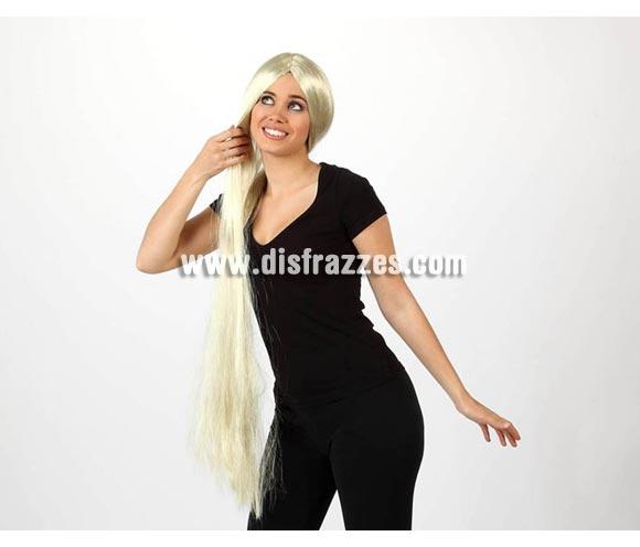 Peluca extra larga rubia. Talla universal. Ideal para el disfraz de Rapunzel.