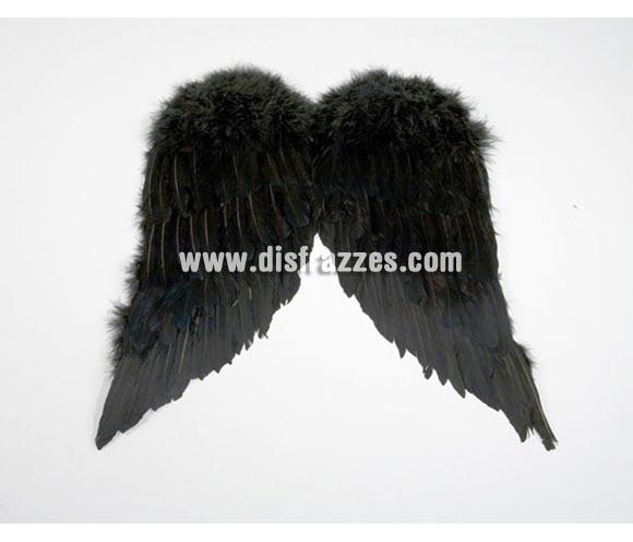 Alas de Ángel con plumas negras de 47x39 cm.