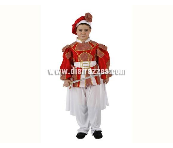 Disfraz de Príncipe de cuento para niños de 3 a 4 años. Incluye disfraz completo sin espada.