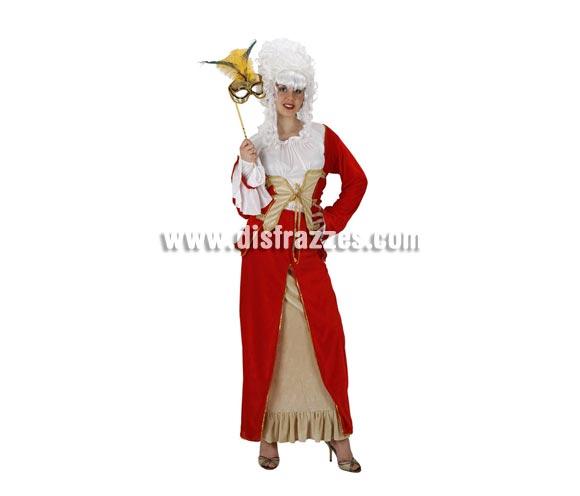 Disfraz de Reina de Época para mujer. Talla 2 ó talla standar M-L 38/42. Incluye vestido. Peluca y mascara NO  incluidas, podrás encontrar en nuestra sección de Complementos+.