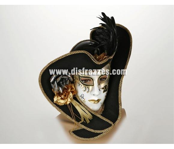 Máscara Veneciana con Sombrero de Ala