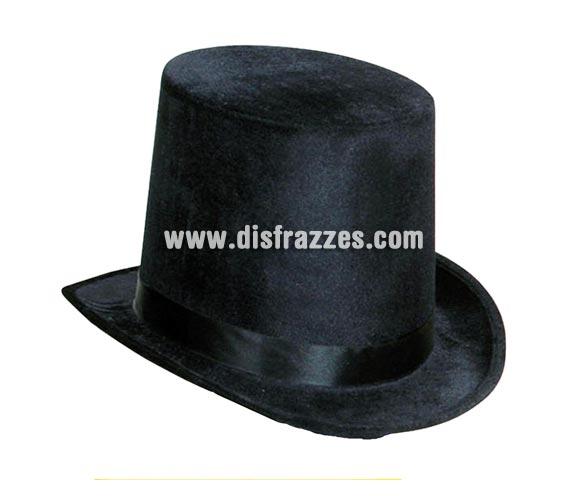 Chistera o Sombrero de Copa de Terciopelo de color negro.